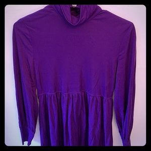 Vintage groovy purple dress